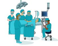 Operating theatre Royalty Free Stock Image