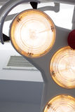 Operating theatre lights. Modern operating theatre lights in a new surgical room royalty free stock image