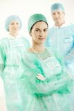 Operation crew in scrub suit Royalty Free Stock Image