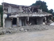 OPERATION OF DEMOLITION OF ANARCHICAL HABITATIONS IN ABIDJAN Royalty Free Stock Image