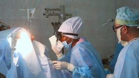 Operation in der Klinik des Hals-, Nasen-, Ohrenheilkunde Operationshals-, nasen-, ohrenheilkunde stock video