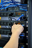 Operation on electrical equipment Stock Photo