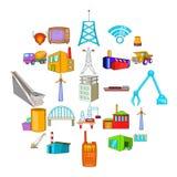 Operation icons set, cartoon style. Operation icons set. Cartoon set of 25 operation vector icons for web isolated on white background Stock Photo
