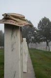Operation Iraqi Freedom Camouflage Hat on Veteran's Headstone Royalty Free Stock Image
