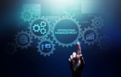 Operation management Business process control optimisation industrial technology concept. royalty free stock images