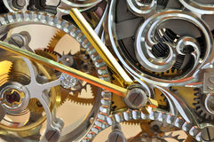 Operation mechanism of clock internal Stock Image