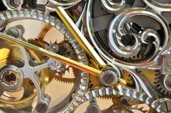 Operation mechanism of clock internal Stock Image