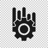 Operation project icon in transparent style. Gear process vector illustration on isolated background. Technology produce business. Concept vector illustration