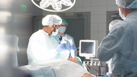 Operation room surgery in hospital. Professional treatment concept.  stock video
