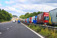 Free Operation Stack Migrant Chaos Folkestone Stock Photography - 57277262
