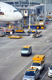 Operation view in yard of Hongkong Airport Royalty Free Stock Photo
