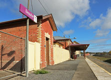 The operational Beaufort Railway station had its former station building converted into a community arts centre in 2014 Royalty Free Stock Photos