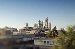 Operational petrochemical plant gas Royalty Free Stock Photos