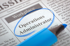 Operations Administrator Join Our Team. 3D. Stock Images