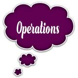 OPERATIONS on magenta thought cloud. Illustration graphic concept Stock Photo