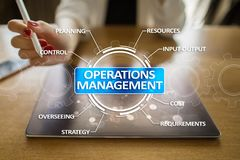 Operations management business and technology concept on virtual screen. Operations management business and technology concept on virtual screen Royalty Free Stock Photo