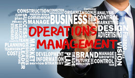 Operations management concept with related word cloud Royalty Free Stock Photos