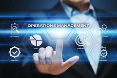 Operations Management Strategy Business Internet Technology Concept.  Royalty Free Stock Image