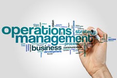 Operations management word cloud. Operations managaement word cloud concept Royalty Free Stock Image
