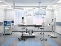 Operationsraum mit Ausrüstung Abbildung 3D Stockbilder