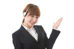 Operator. The woman who works as an operator Royalty Free Stock Photos