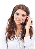 Operator business woman Royalty Free Stock Photography