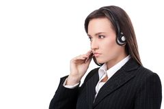 Operator of call center Stock Photo
