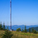 Operator of cellular communication tower Stock Images