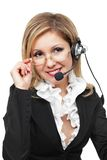 Operator of communication service Royalty Free Stock Photo