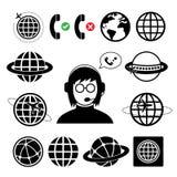 Operator customer support cartoon Royalty Free Stock Image