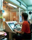 operator fabryczna praca Zdjęcia Stock