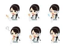 Operator Facial expression set Stock Images