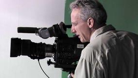 Operator filmowy przy pracą zbiory wideo