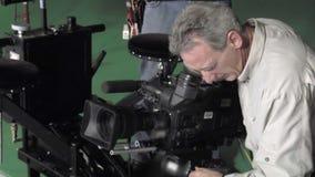 Operator filmowy przy pracą zdjęcie wideo