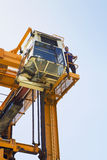 Operator On Gantry Of Mobile Crane Stock Images