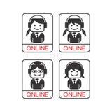 Operator girl avatar portrait picture icon Stock Photos