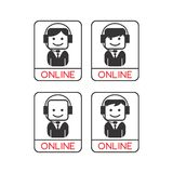 Operator guy avatar portrait picture icon Stock Photography