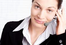 Operator with headset Stock Image