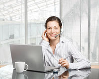 Operator in headset Stock Photos