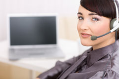 Operator with headset Royalty Free Stock Images