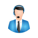 Operator with headset icon image. Vector illustration design Royalty Free Stock Image