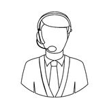 Operator with headset icon image. Vector illustration design Royalty Free Stock Photo