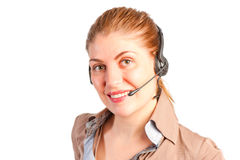 Operator with headset Stock Image