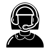 Operator icon, simple black style. Operator icon. Simple illustration of operator vector icon for web Stock Photo