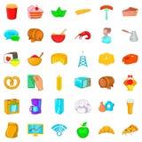 Operator icons set, cartoon style. Operator icons set. Cartoon style of 36 operator vector icons for web isolated on white background Royalty Free Stock Images