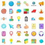 Operator icons set, cartoon style. Operator icons set. Cartoon style of 36 operator vector icons for web isolated on white background Stock Image