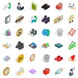 Operator icons set, isometric style. Operator icons set. Isometric style of 36 operator vector icons for web isolated on white background Stock Photography