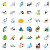 Operator icons set, isometric style. Operator icons set. Isometric style of 36 operator vector icons for web isolated on white background Stock Image