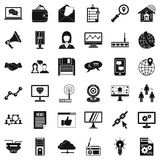 Operator icons set, simple style. Operator icons set. Simple style of 36 operator vector icons for web isolated on white background Royalty Free Stock Photography