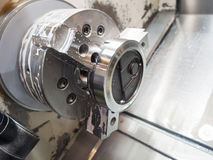Operator machining mold and die for automotive parts Stock Photography